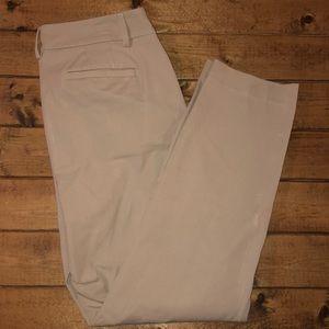 Talbots Khaki Curvy Skinny Leg Pants Size 8